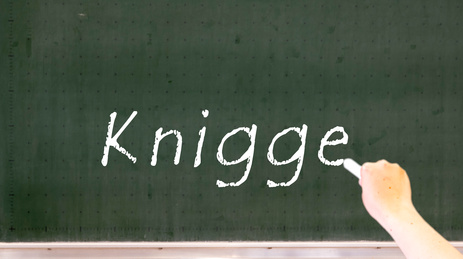 Knigge Wort an Tafel