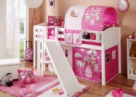 In jedem Kinderzimmer eine Attraktion – das Kinderhochbett mit Rutsche